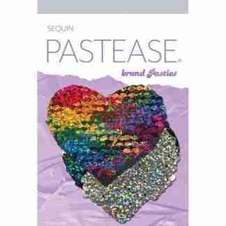 Pastease Color Changing Flip Sequins Heart - Rainbow O/S