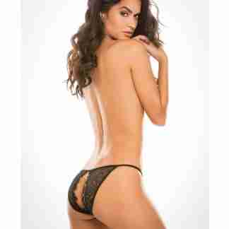 Adore Lace Enchanted Belle Panty Black O/S