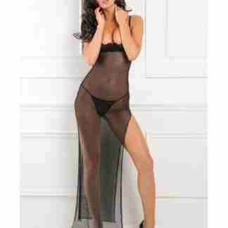 Rene Rofe All Out There Open Cup Dress Black M/L