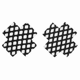 Fishnet Cross Pasties (One Time Use) - Black O/S