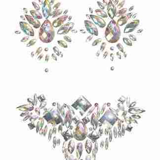 Iridescent Body Gem & Jewel Pasties Set - Multi O/S