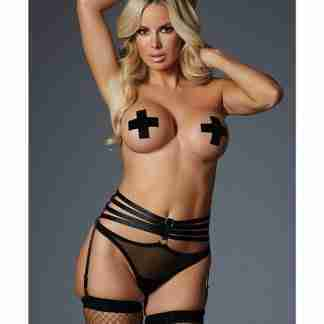 Adore 4ever Yours Garter Panty (Pasties Not Included) Black O/S