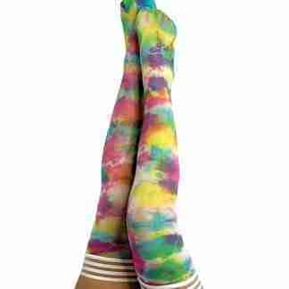 Kix'ies Gilly Tie Die Thigh High Bright Color D